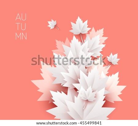 autumn leaves soft color background  - stock vector