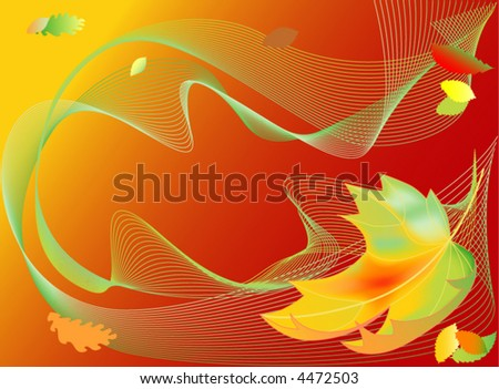 Autumn leaves (vector background)