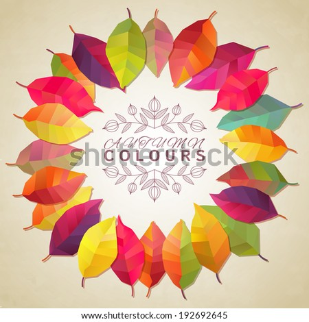 Autumn leaves. Vector illustration - stock vector