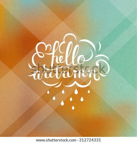 Autumn lettering illustration - stock vector