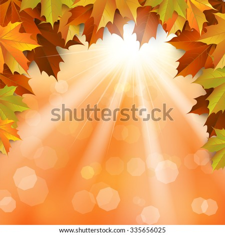 autumn , Maple leaves Background, Thanksgiving, vector Illustration