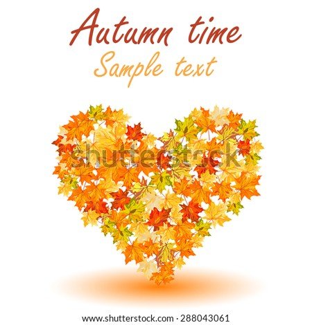 Autumn maple leaves background. Vector illustration without  transparency EPS10. - stock vector