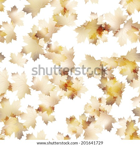 Autumn maple leaves pattern background. Colored art autumn leaves. Fabric texture. And also includes EPS 10 vector - stock vector