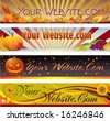autumn mastheads for your web site - stock vector