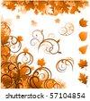 Autumn ornaments - stock vector