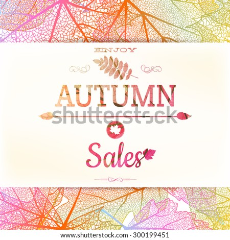 Autumn sale background. EPS 10 vector file included - stock vector