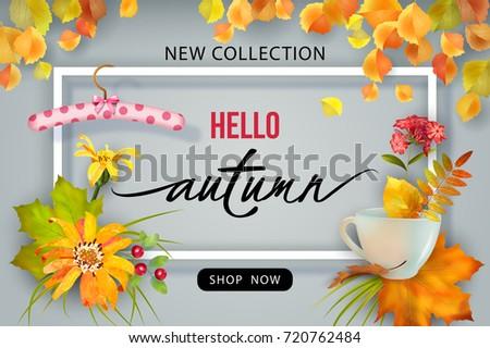 autumn sale design vector fall banner stock vector royalty free