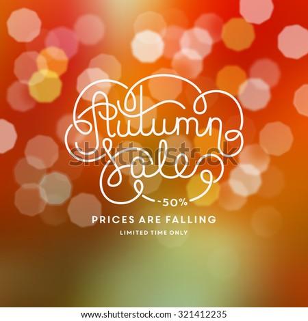 Autumn sale illustration - stock vector