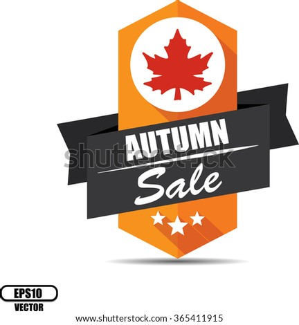 Autumn sale label and sign - Vector illustration - stock vector