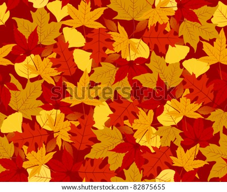 Autumn seamless pattern. Side to side, top to top. - stock vector