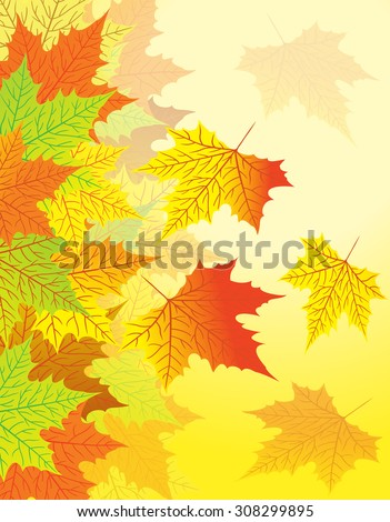 Autumn texture with swirling leaves
