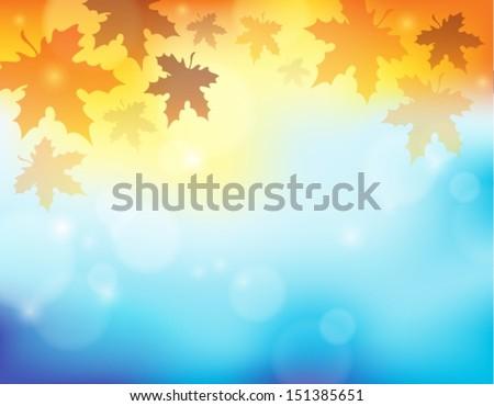 Autumn theme background 2 - eps10 vector illustration. - stock vector