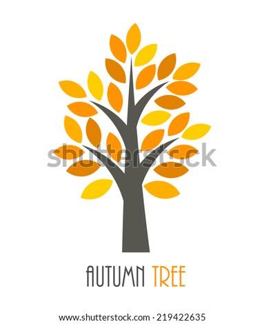 Autumn tree icon. Vector illustration - stock vector