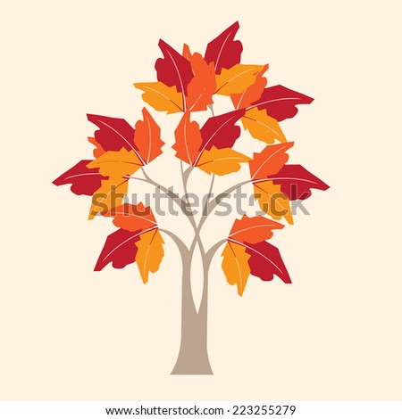 Autumn Tree vector - stock vector