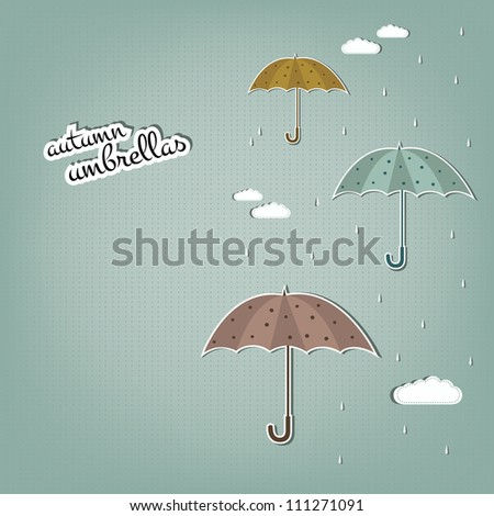 autumn umbrellas