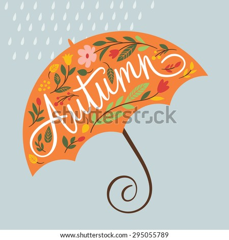autumn vector  illustration - stock vector