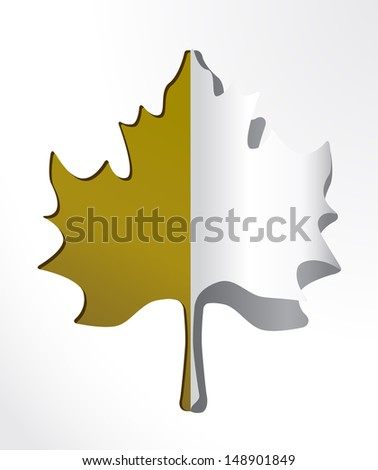 AUTUMN VECTOR PAPER LEAF / Vectorial image easy to modify.  - stock vector