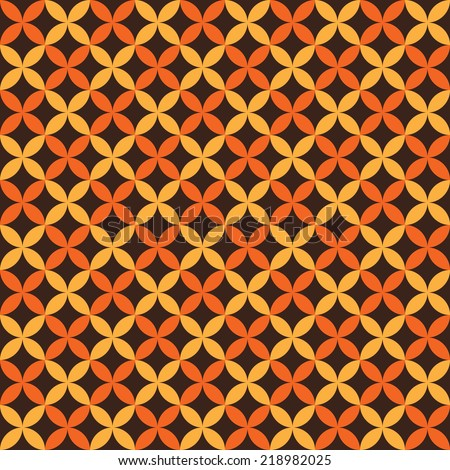 Autumn vector seamless pattern. Endless texture for wallpaper, fill, web page background, texture. Halloween and thanksgiving geometric ornament. Orange and white colors - stock vector