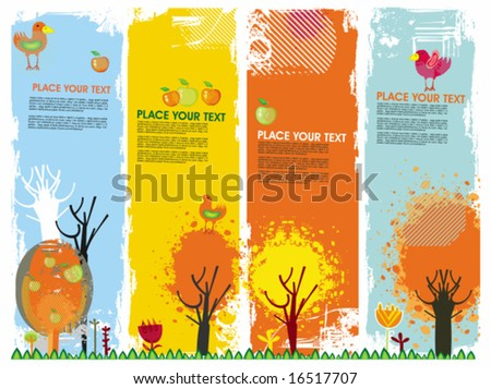 Autumn vertical banners. To see similar, please VISIT MY GALLERY. - stock vector