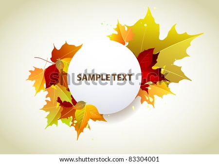 Autumn yellow banner - stock vector