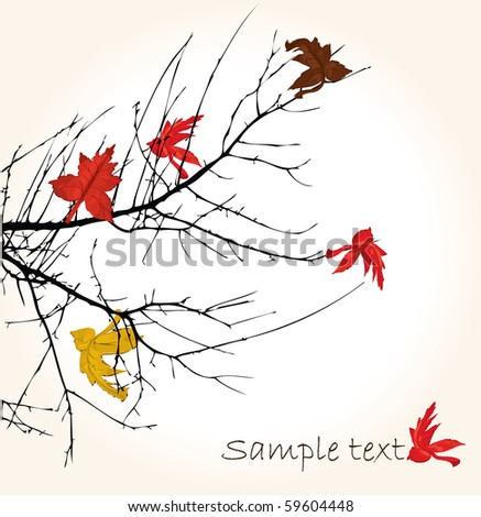 Autumnal brunch, vector illustration, - stock vector