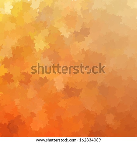 Autumnal leaf of maple and sunlight background. And also includes EPS 10 vector - stock vector