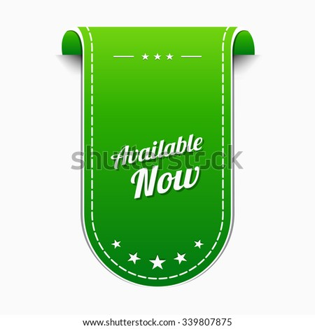 Available Green Vector Icon Design