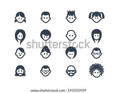 Avatar and user icons - stock vector