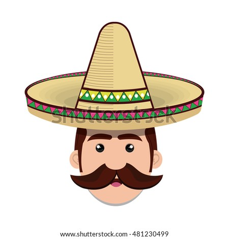 avatar mexican man cartoon