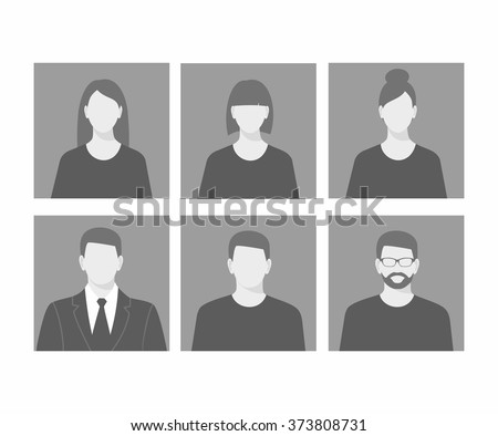 Avatar profile picture icon set including male and female  - stock vector