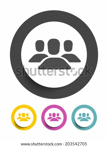 Avatar sign icon - stock vector