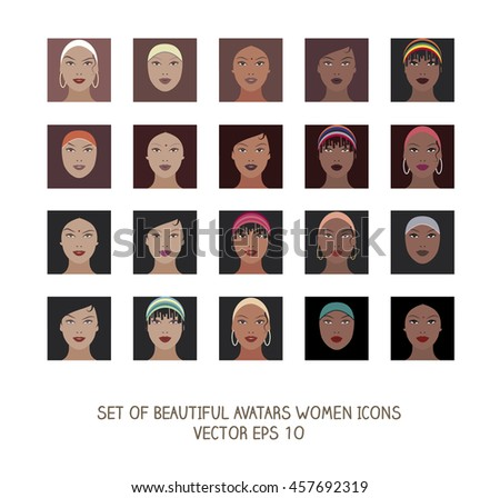 Avatars women icons