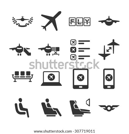 Aviation icon series 6 - stock vector