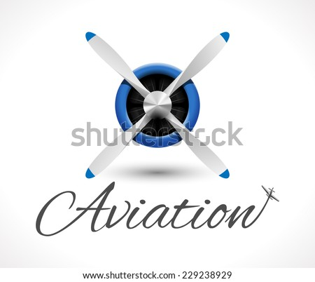 Aviation logo - stock vector