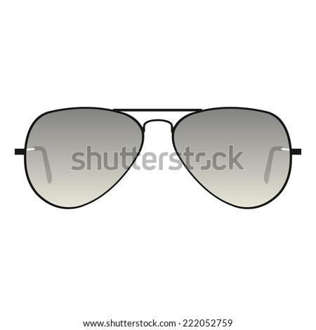 Aviator sunglasses - stock vector