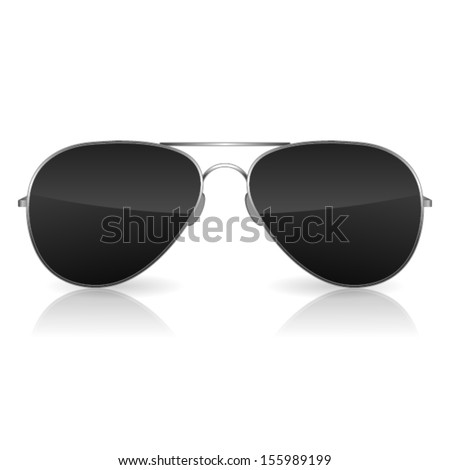 Aviator sunglasses isolated on white. Vector - stock vector