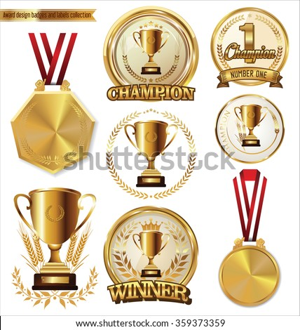 Award design badges and labels collection - stock vector
