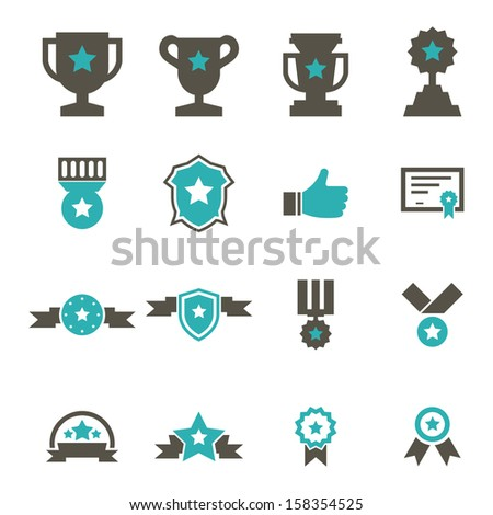 Award Icon - Color - stock vector