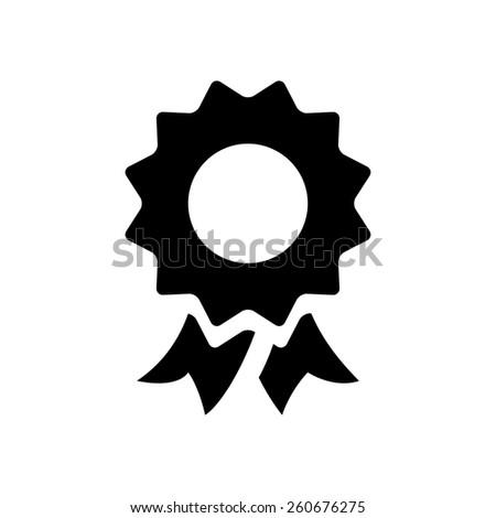 Award & ribbon icon - stock vector