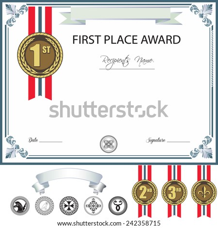 Award Template Other Size S Blank Award Template Design With