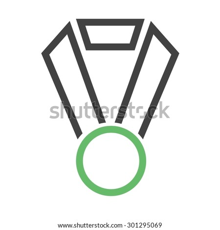 Award, trophy, medal, badge icon vector image. Can also be used for education, academics and science. Suitable for use on web apps, mobile apps, and print media.