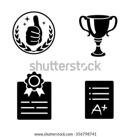 Award vector icons - stock vector