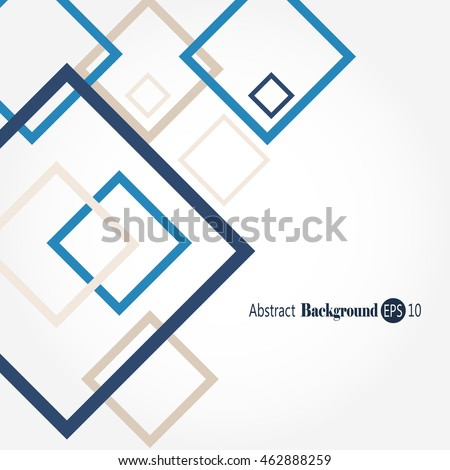 Awesome abstract geometric shape background with squares