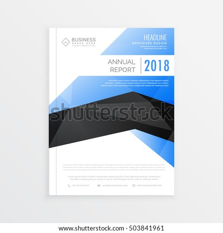 Vector Design Cover Report Annual Flyer Stock Vector