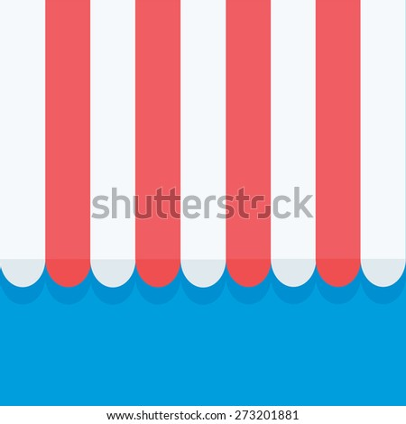 awning - stock vector