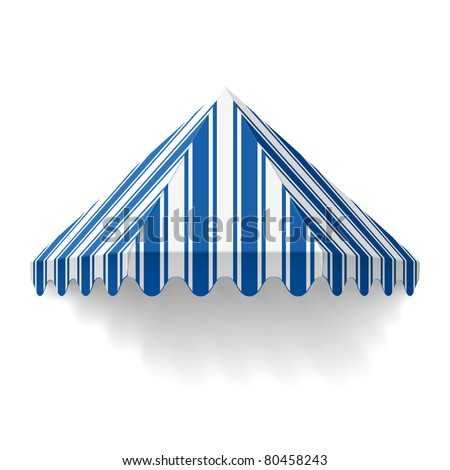 Awning. Vector. - stock vector