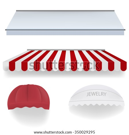 Awnings for shop - stock vector