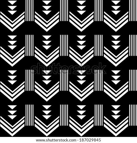 Aztec pattern background - stock vector