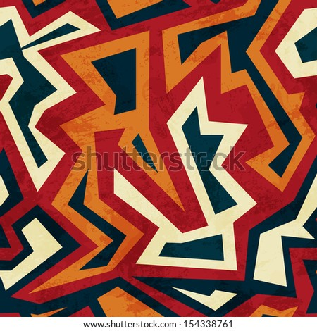aztec seamless pattern with glass effect - stock vector