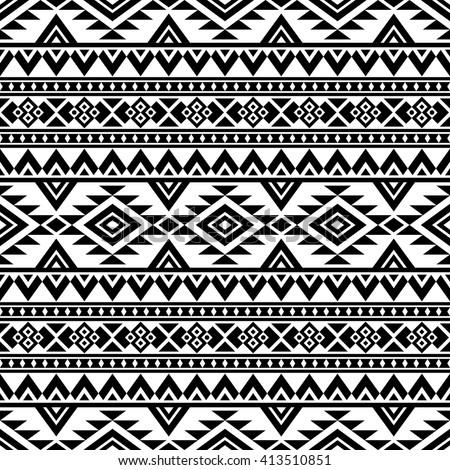 Aztec Stylized Seamless Pattern Ethnic Print Stock Vector 413510851 ...
